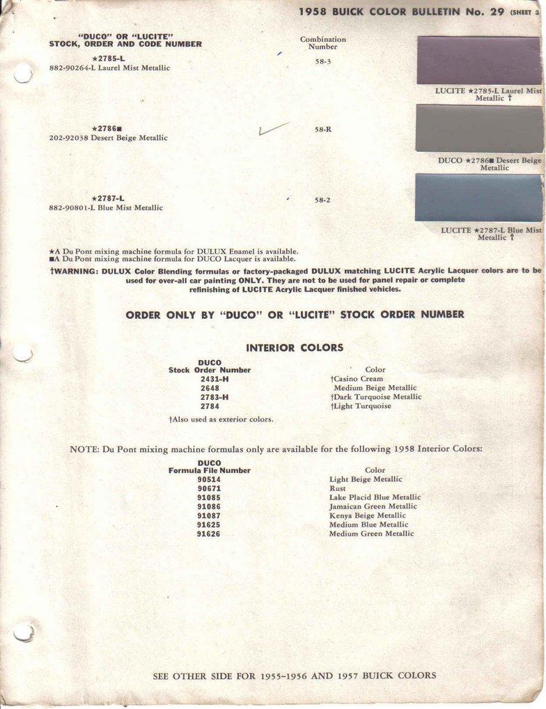 1958buickforum net • View topic - Data Plate Decoding